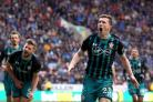 Southampton's Pierre-Emile Hojbjerg (right) celebrates scoring his side's first goal (Richard Sellers/EMPICS)