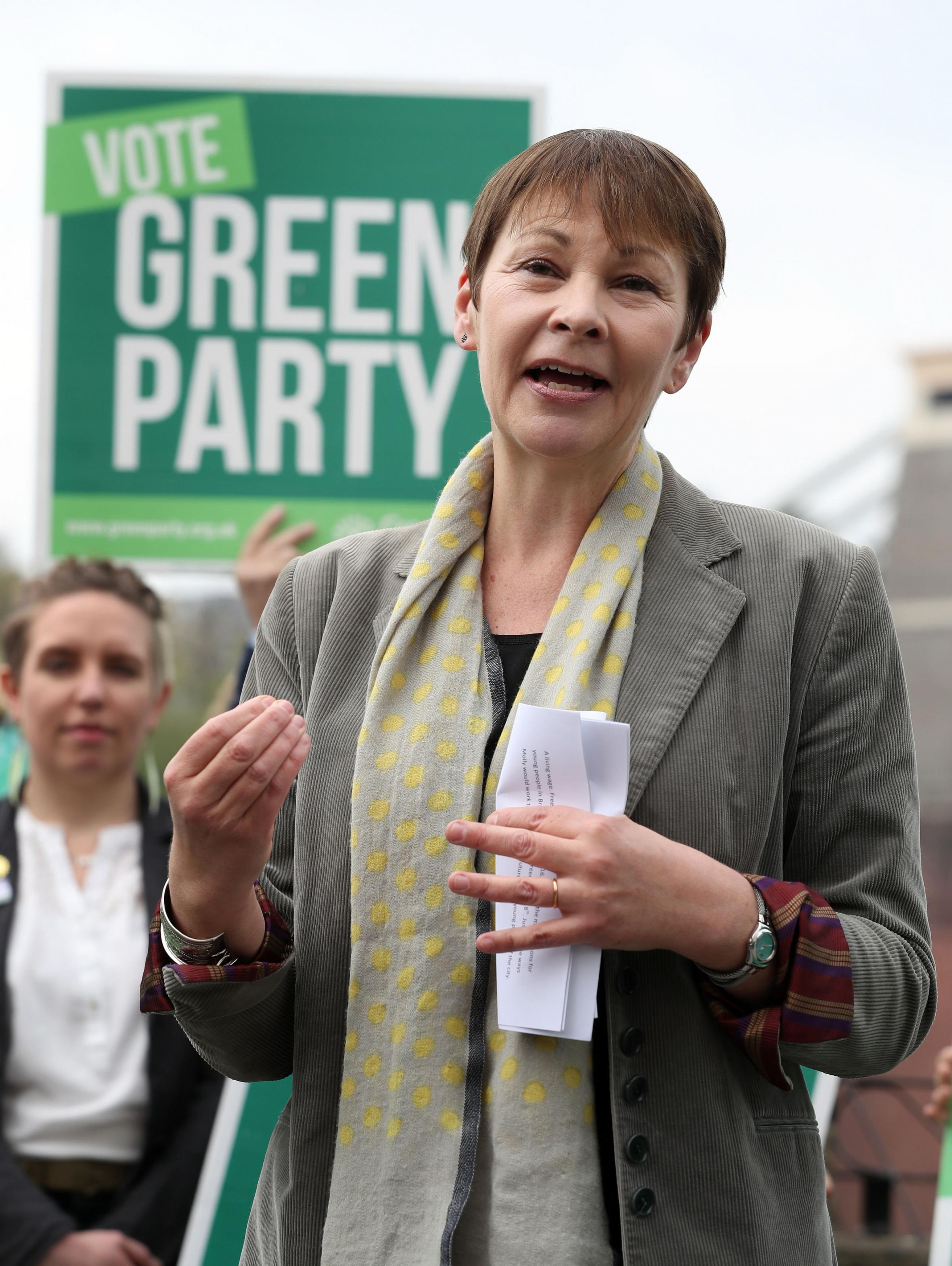 Embargoed to 0001 Monday May 22..File photo dated 22/05/17 of Green Party joint leader Caroline Lucas, as Green MPs will