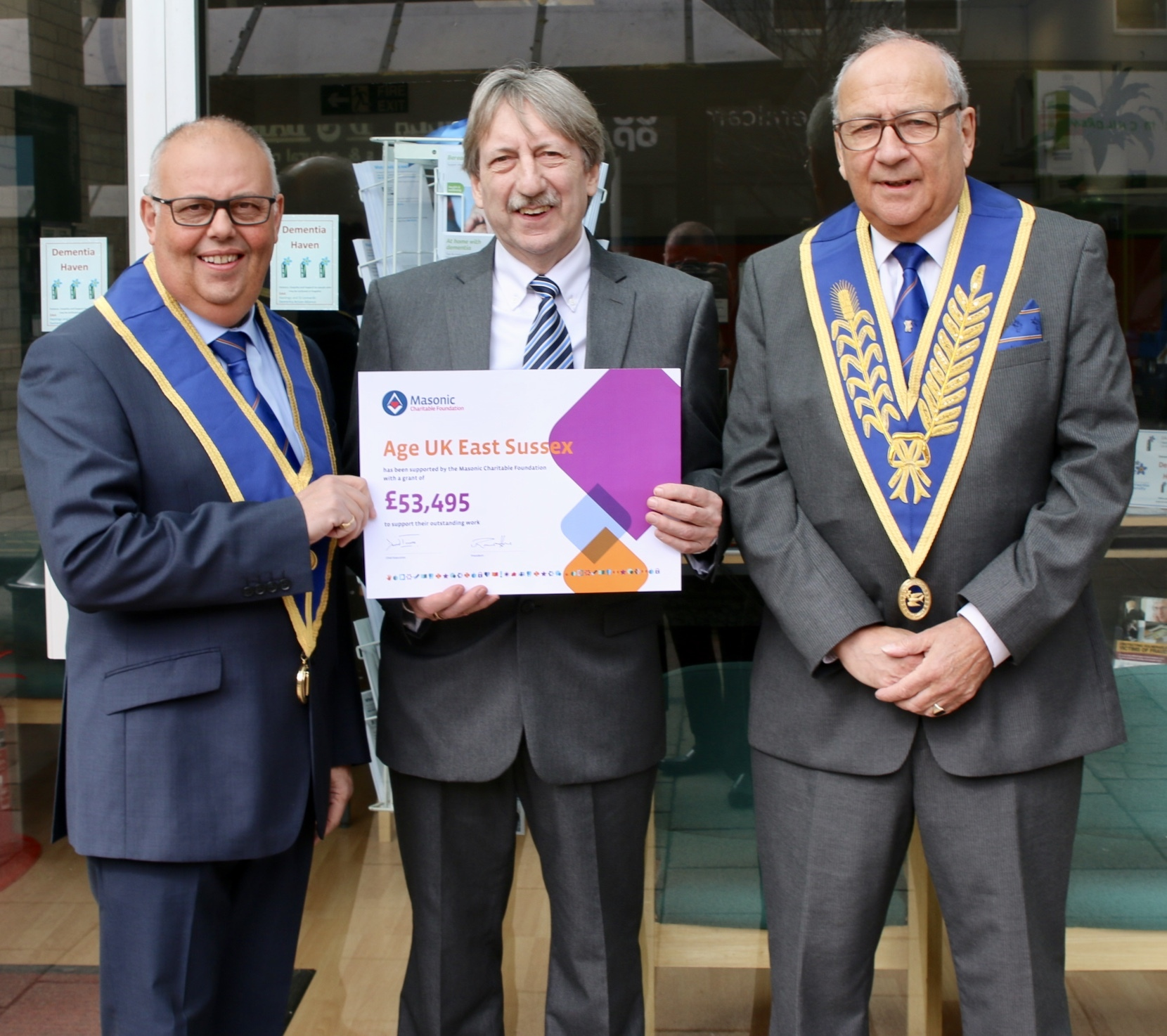 Sussex Freemasons' gift