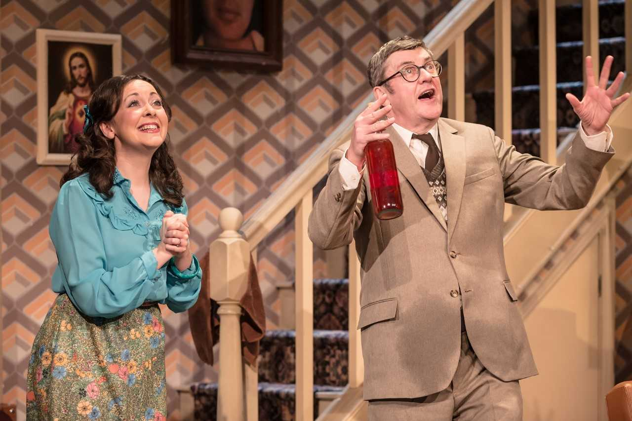 Betty and Frank, played by Sarah Earnshaw and Joe Pasquale