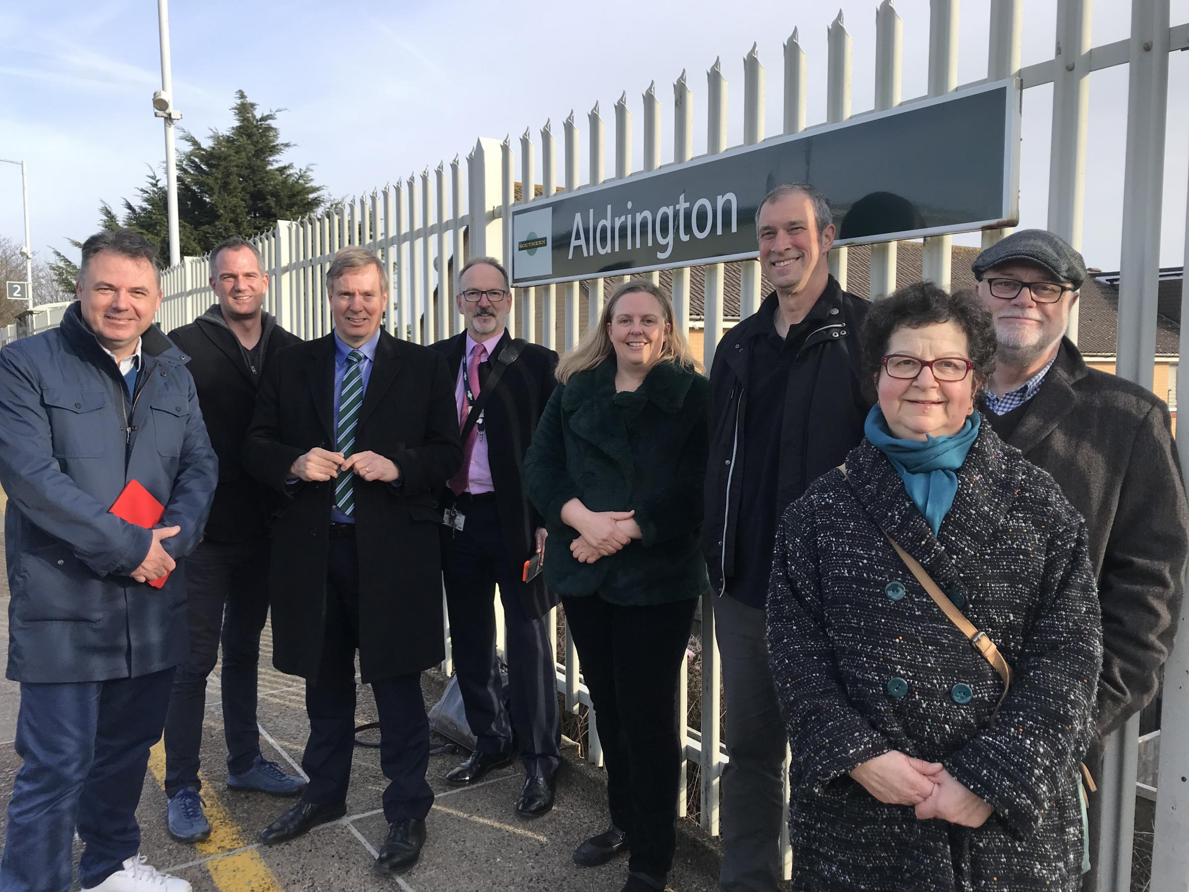 Politicians meet rail bosses at Aldrington Station