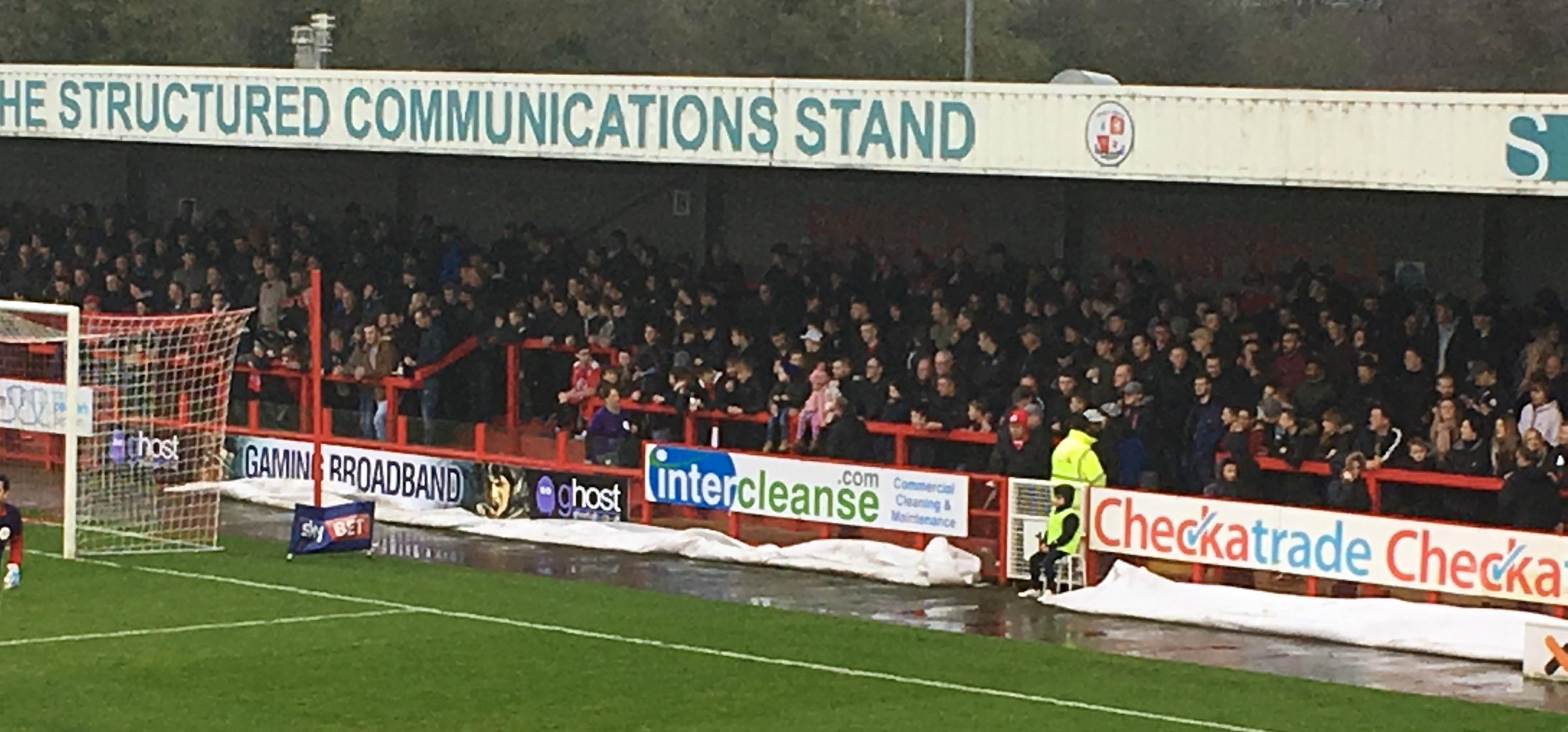 Fans turned out in force at Crawley