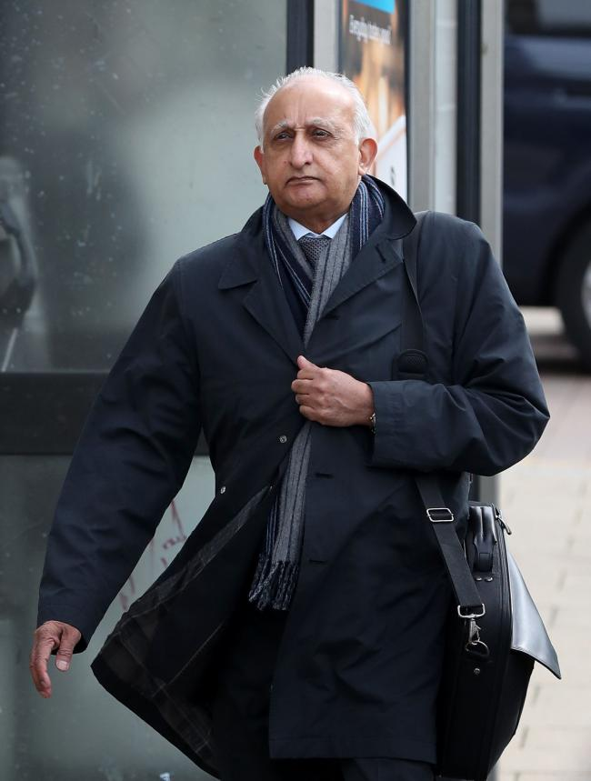 Ajaz Karim arrives at Brighton Crown Court (Picture: Gareth Fuller/PA)