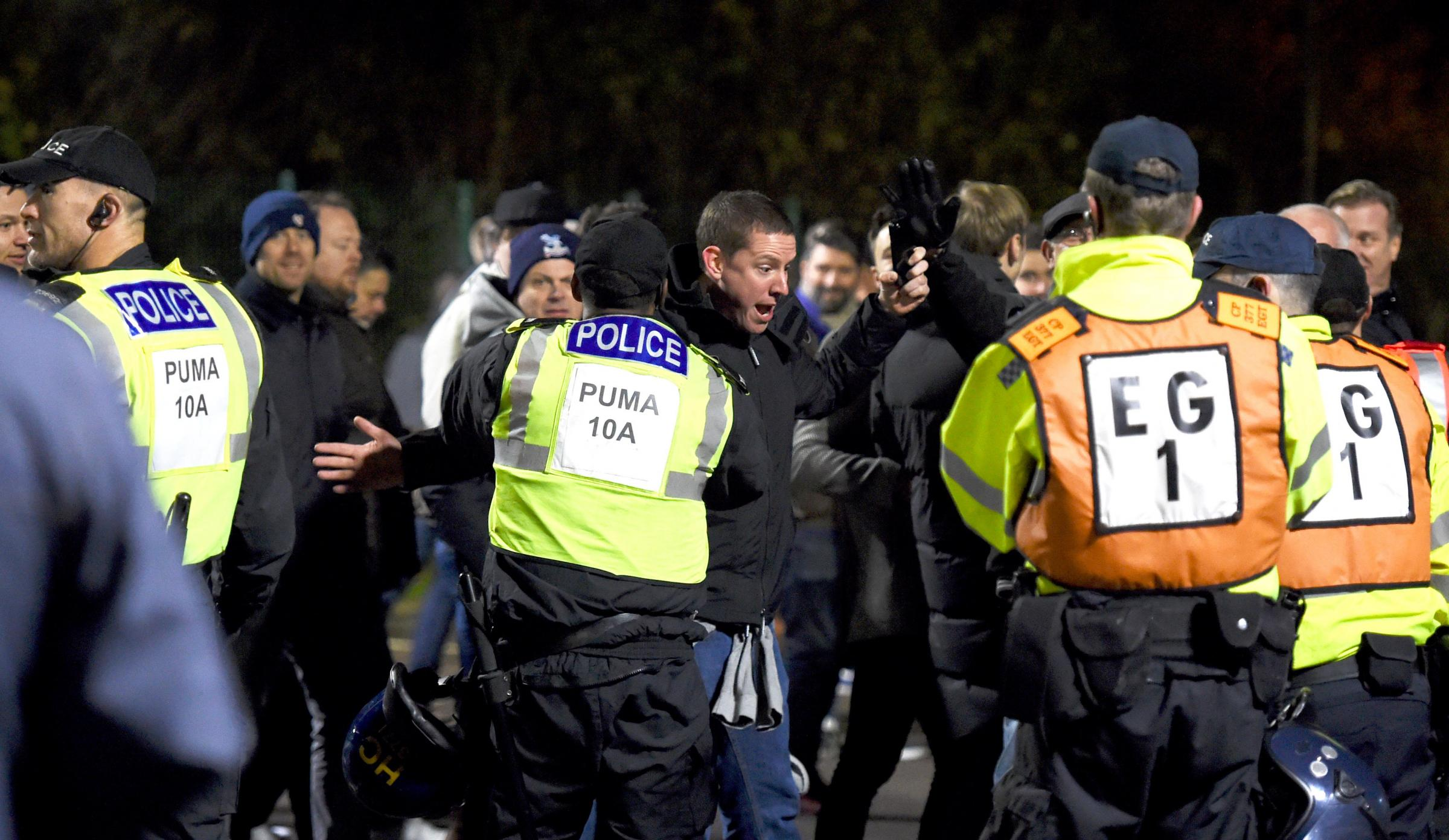Crystal Palace fans lodge complaint against Sussex Police