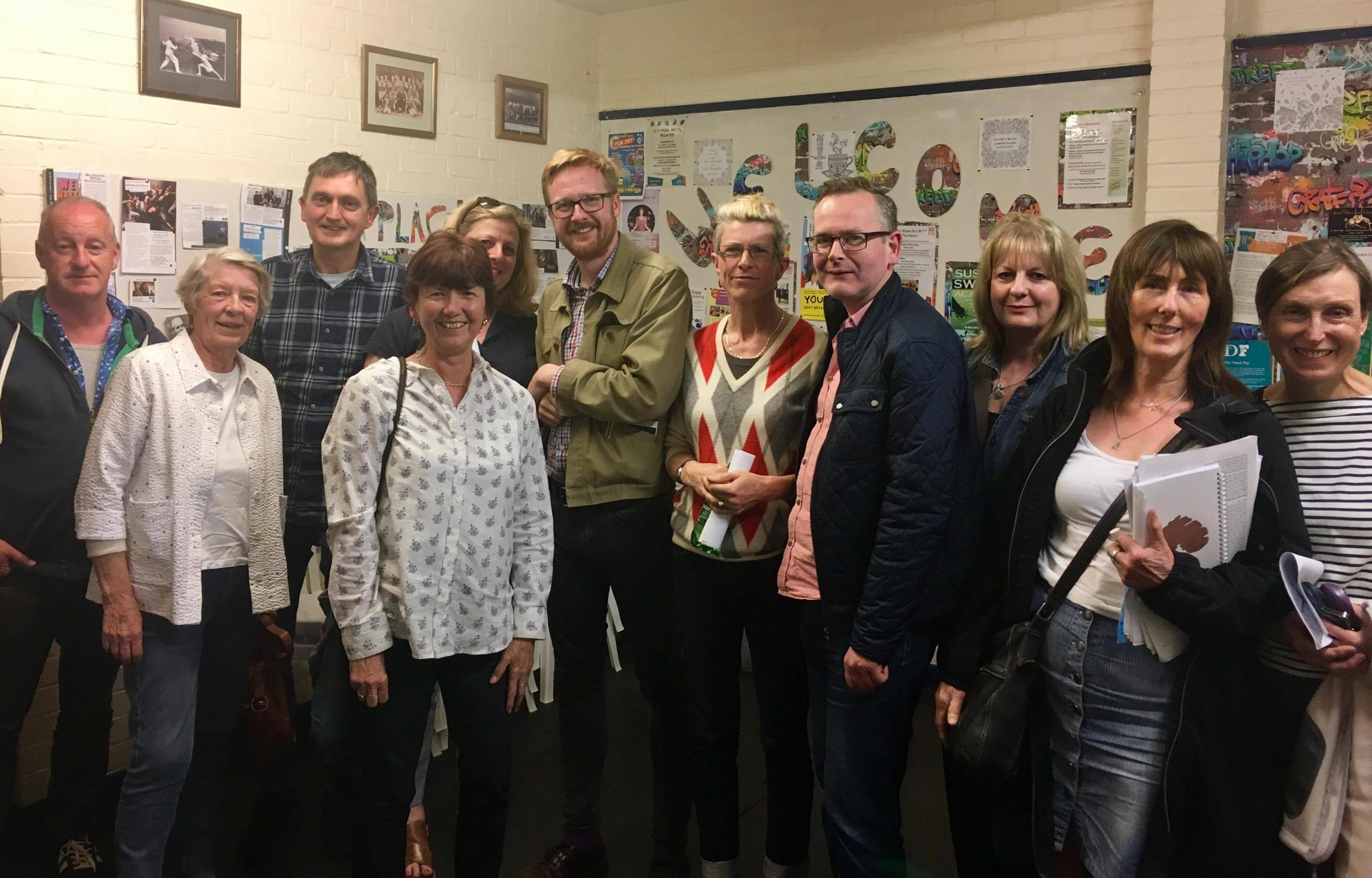 Residents who attended the meeting with Lloyd Russell-Moyle, MP for Kemptown and Peachaven