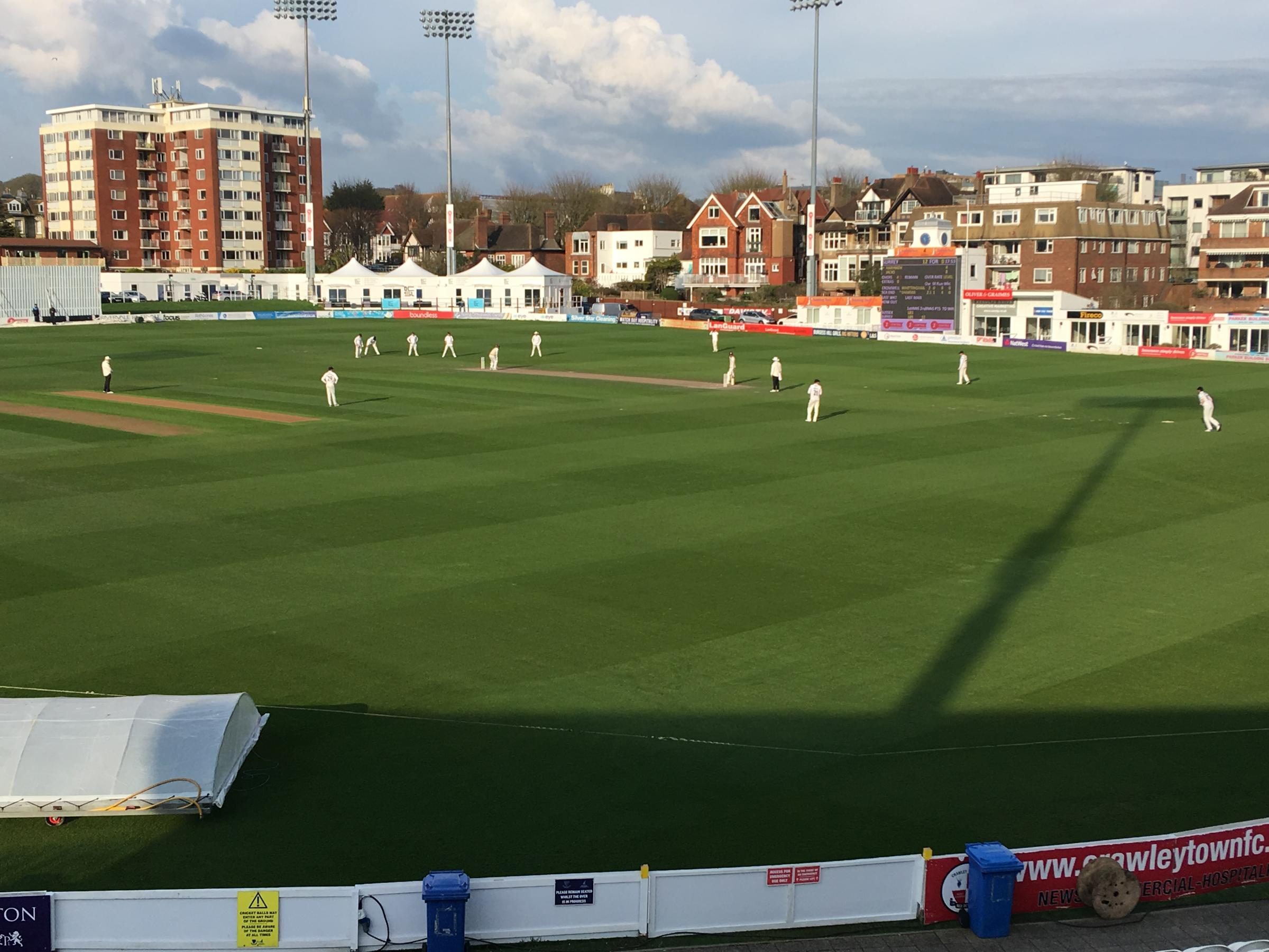 Sussex face a fight after Hove day of drama