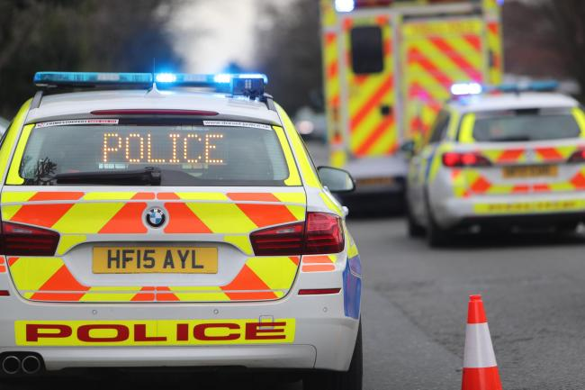 A man died in a crash on the A26 at Eridge, near Crowborough, last night