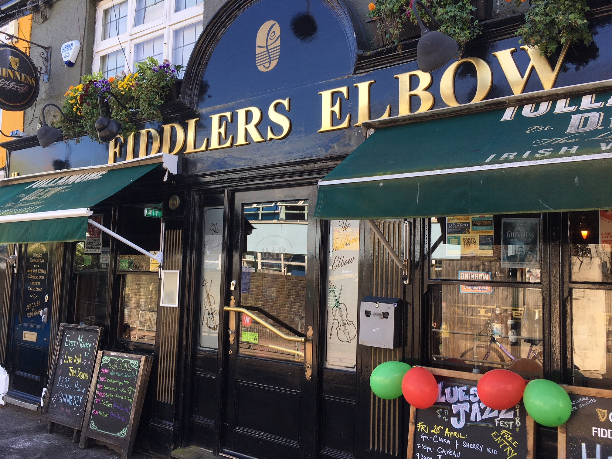 The Fiddler's Elbow pub in Brighton