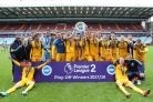 Albion under-23s celebrate their play-off triumph. All pictures by Paul Hazlewood/BHAFC