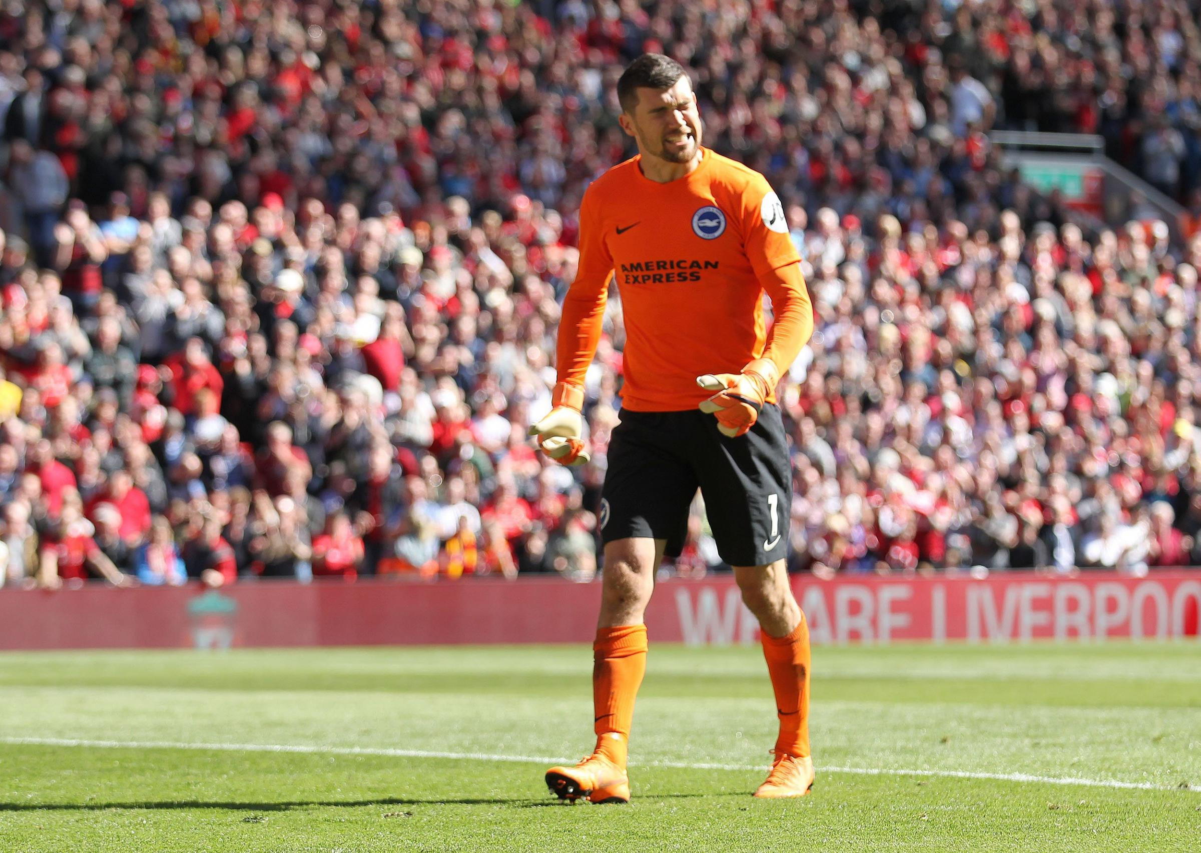 Mathew Ryan at Anfield