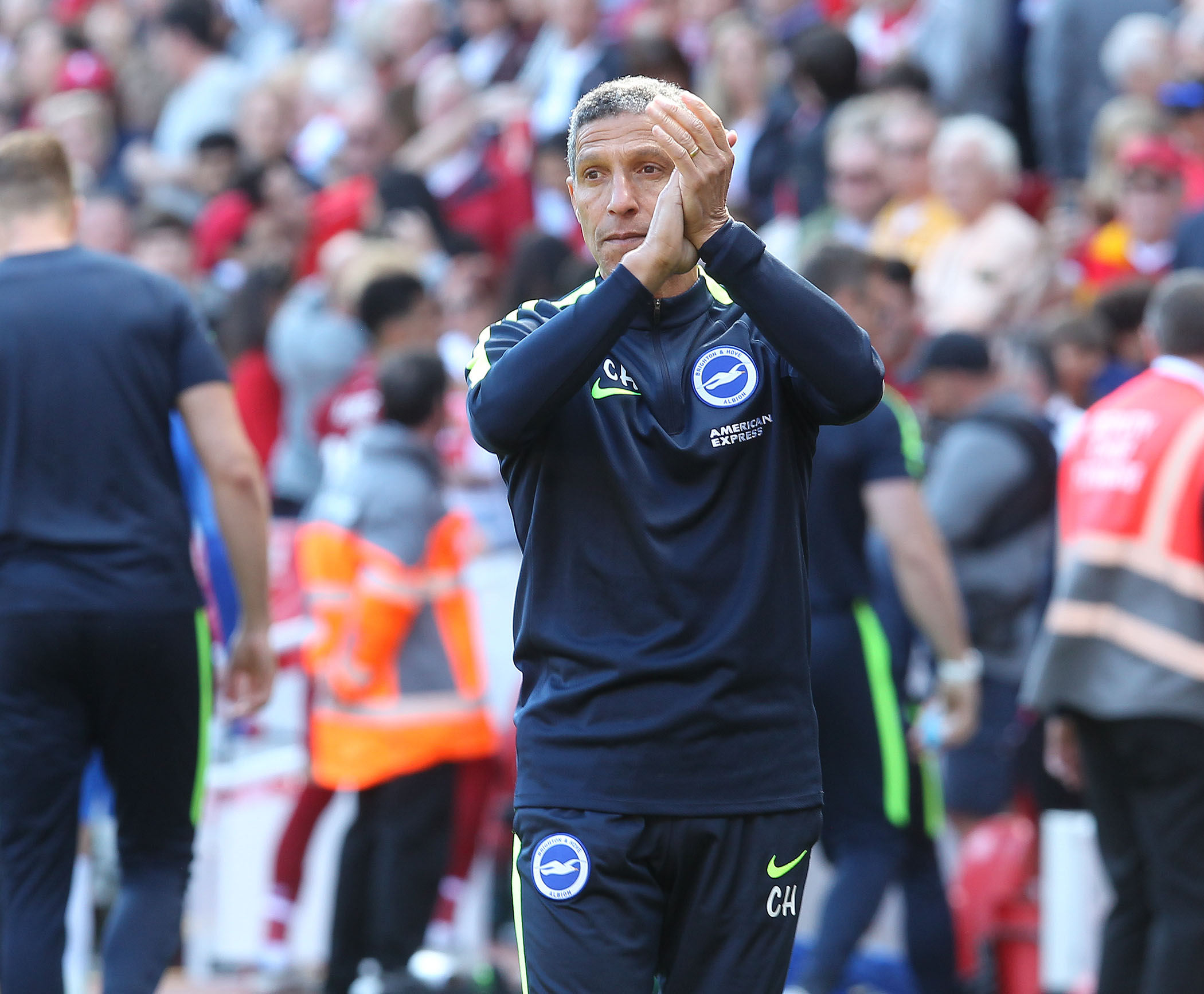 Chris Hughton will have his Albion players back at the end of June. Picture Richard Parkes