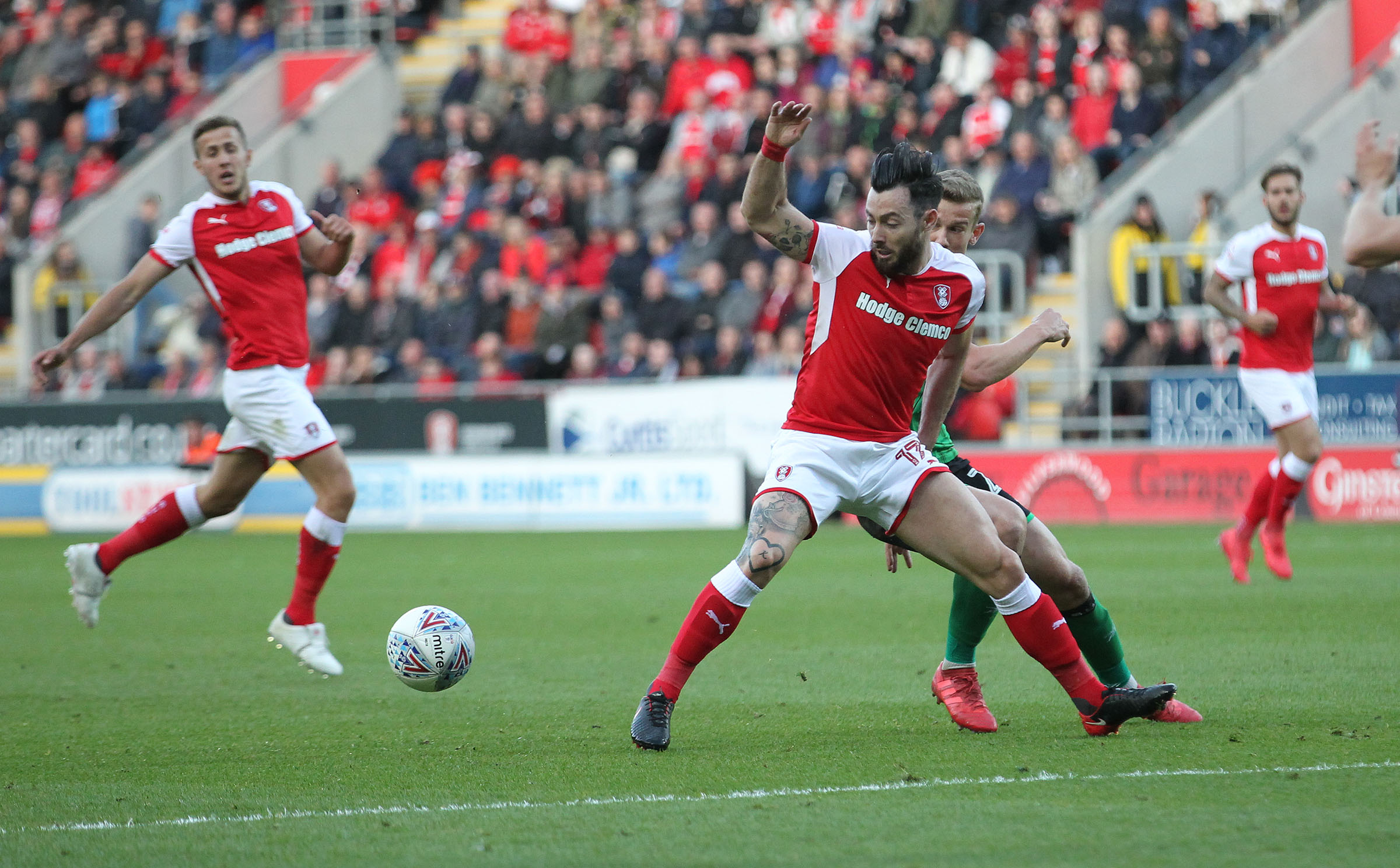 Richie Towell in action for Rotherham last night. Picture by Richard Parkes