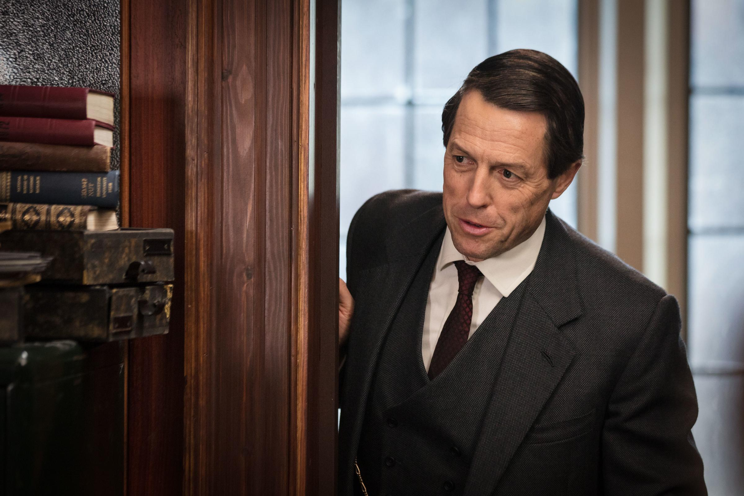Undated BBC Handout Photo from A Very English Scandal. Pictured: Hugh Grant as Jeremy Thorpe. See PA Feature SHOWBIZ TV Grant. Picture credit should read: PA Photo/BBC/Blueprint Television Ltd/Sophie Mutevelian. WARNING: Use of this copyright image is sub