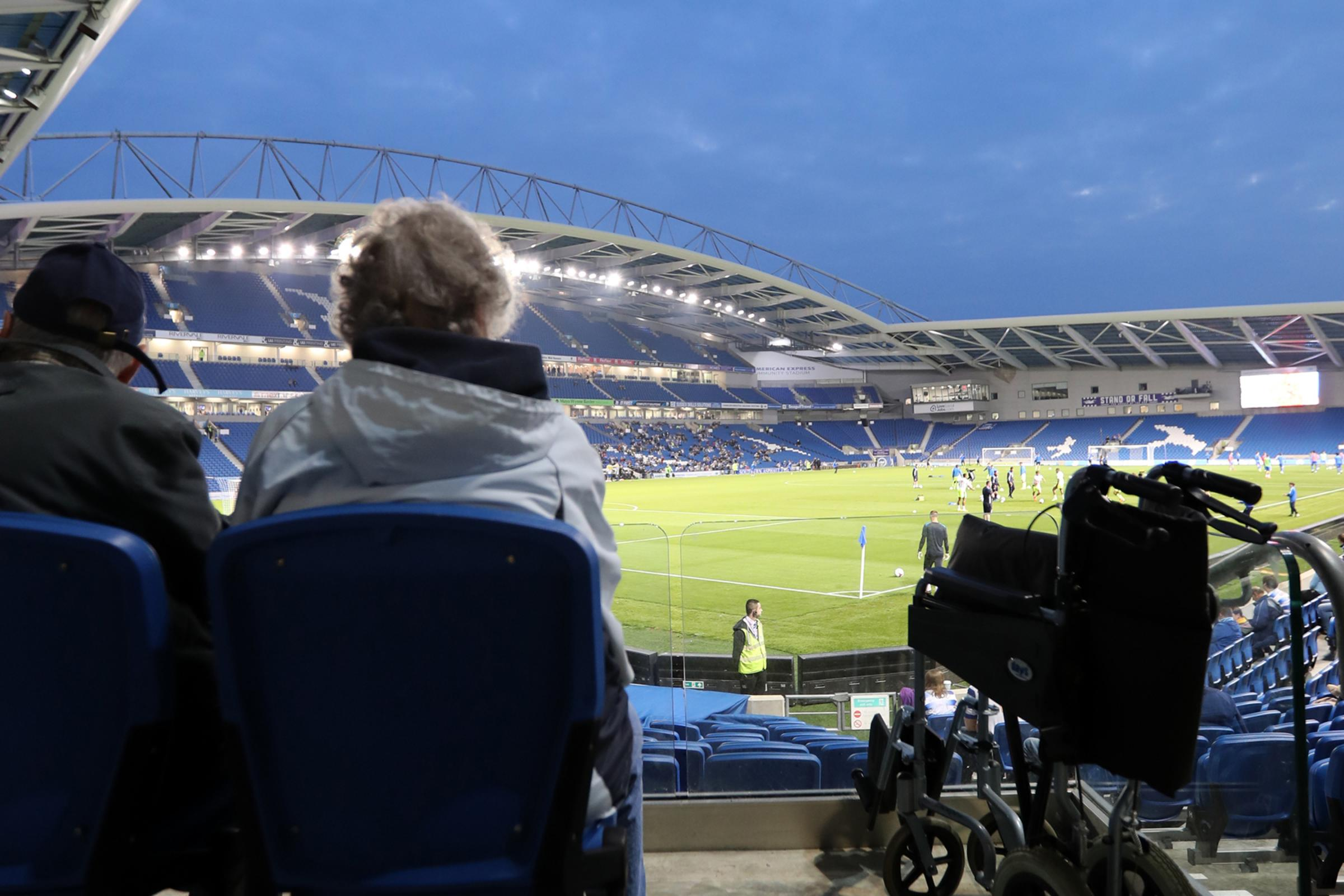 Match action during the EFL Cup first round tie between Brighton and Hove Albion and Reading at the American Express Community Stadium, Falmer on the 20th September 2016..