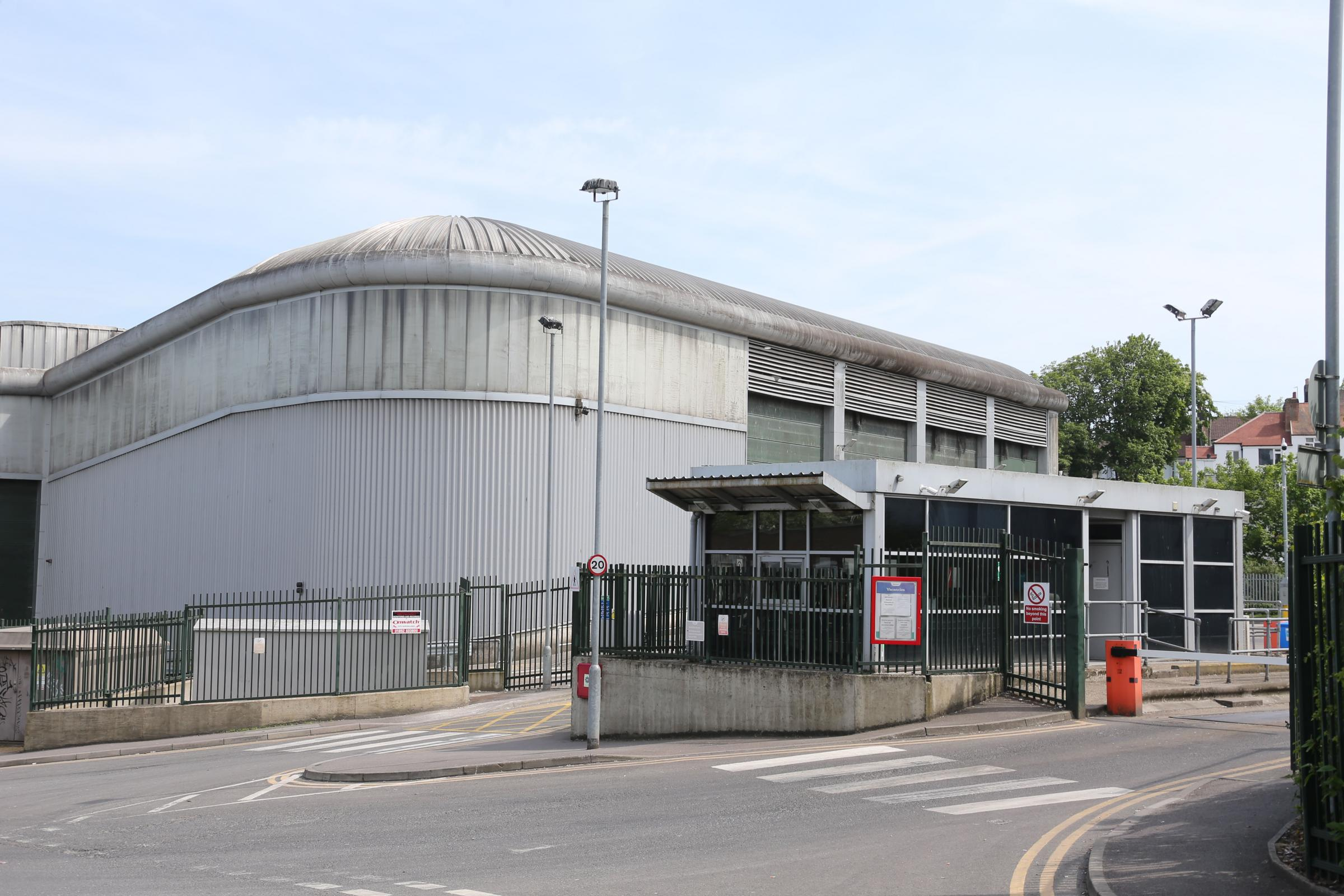 The recycling plant in Hollingdean