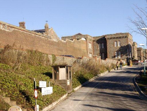 Lewes Prison, where Jamie Stephen Halifax was awaiting sentencing