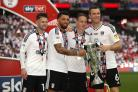 Oliver Norwood (left) with Fulham team-mates after the Championship play-off final against Aston Villa at Wembley