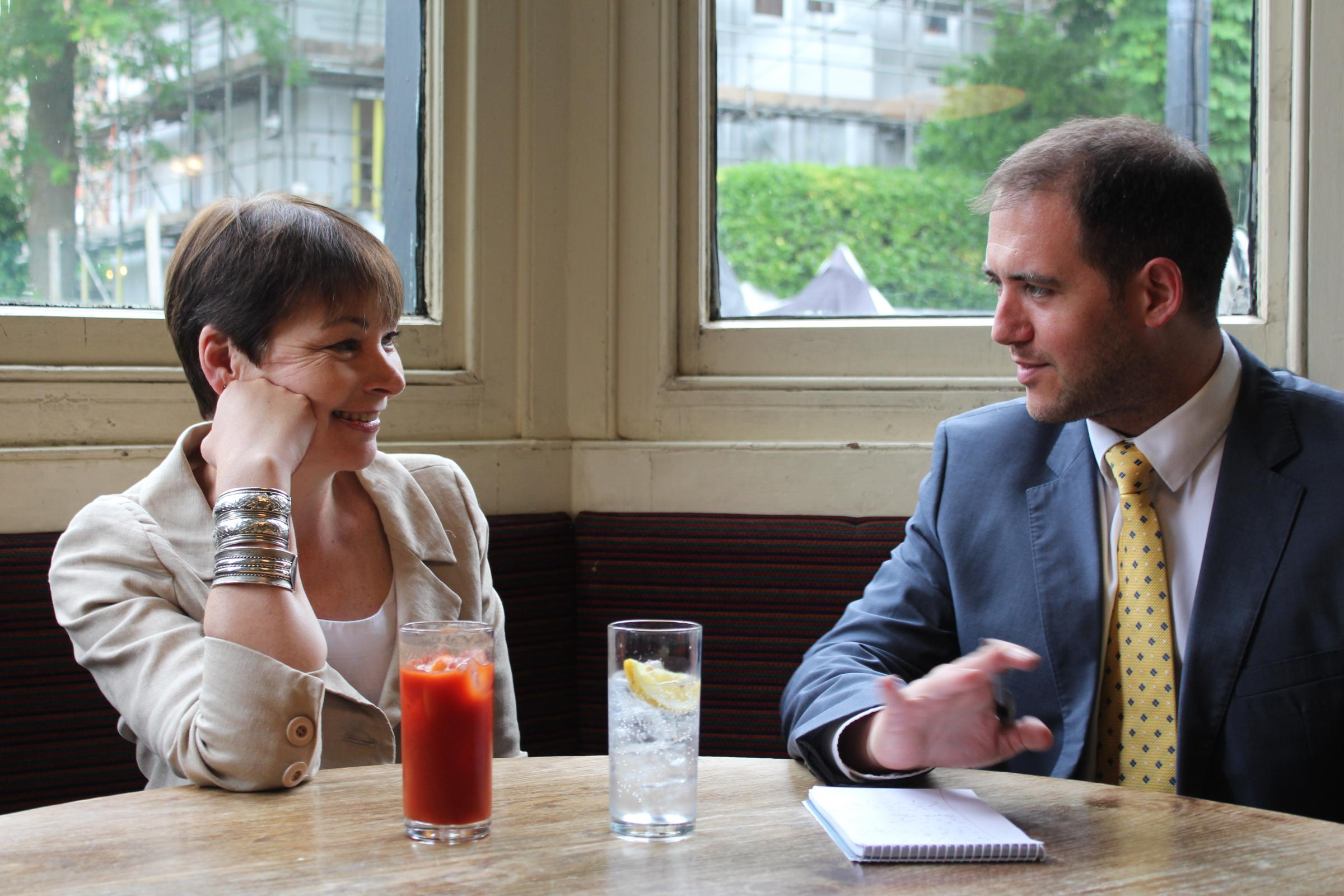Caroline Lucas sat down with Argus reporter Joel Adams to discuss the future of the Green Party