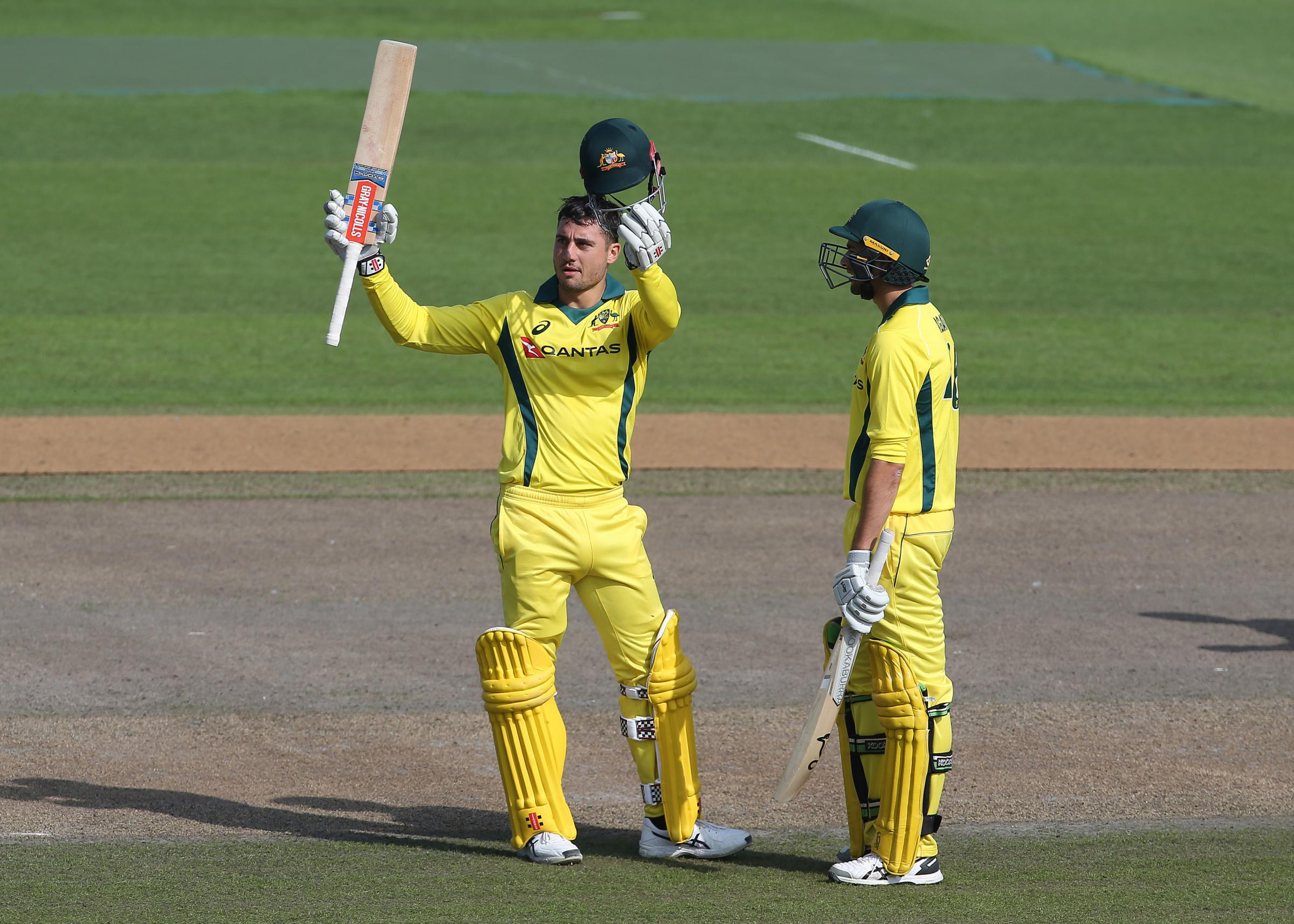 Marcus Stoinis celebrates a century at Hove