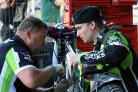 Martin Dugard at work in the pits with Tom Brennan. Picture by Mike Hinves