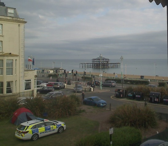 @brightoncam images show the police at the scene
