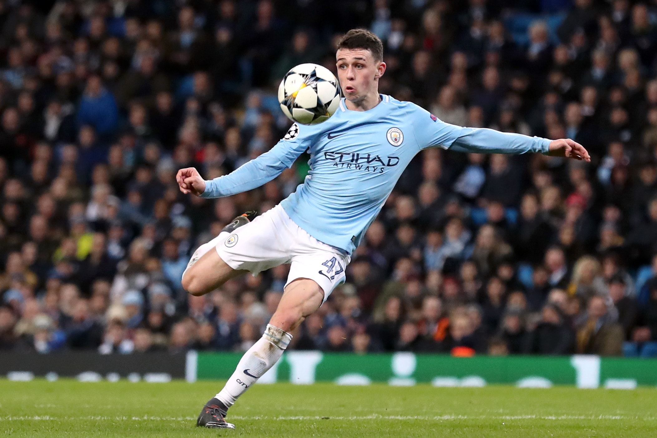 Watch a bare-chested Phil Foden show his skills on the streets of Stockport