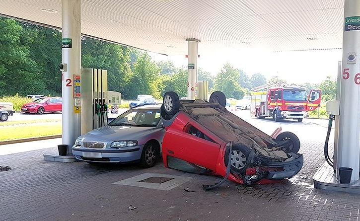 Water Bottle Blamed For Petrol Station Crash