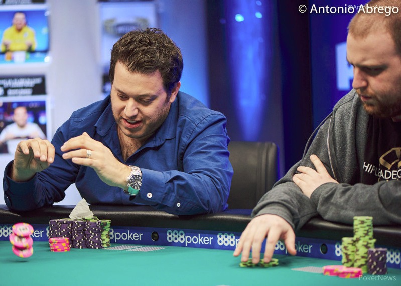 Sam Razavi in action in Las Vegas. Picture: Antonio Abrego/Poker News