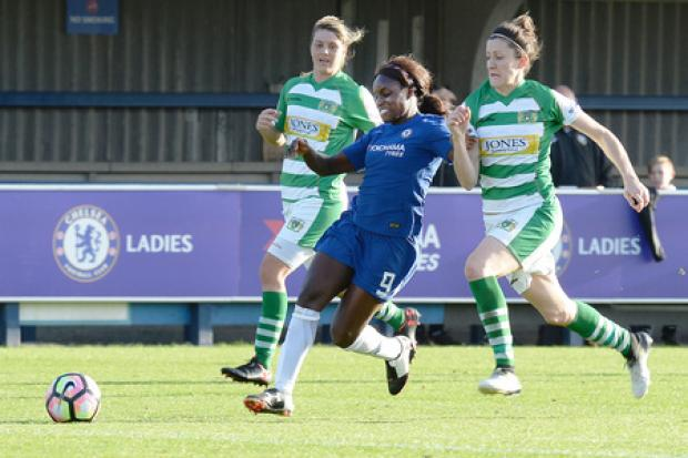 Eni Aluko in action for Chelsea as a player