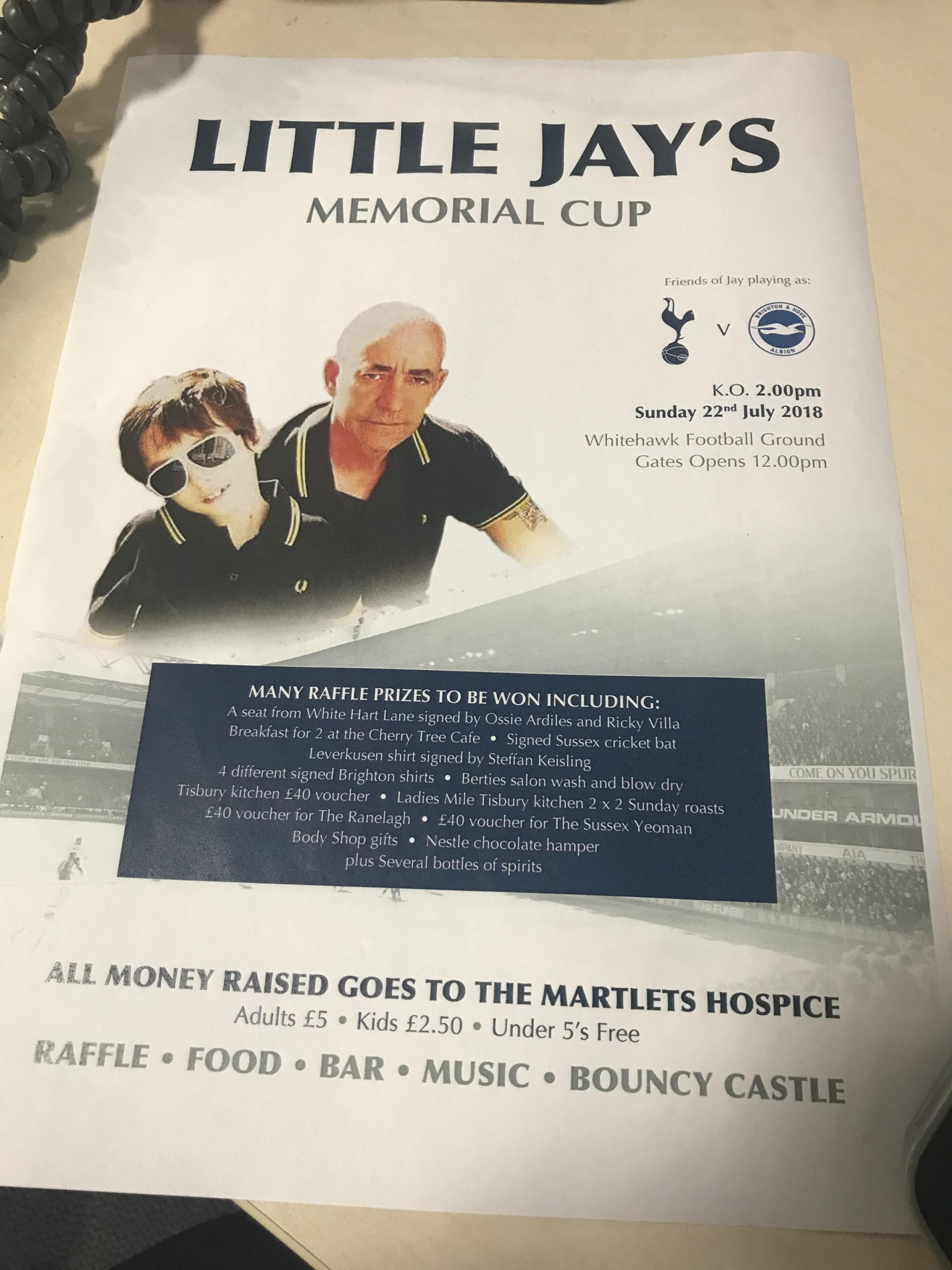 Little Jays charity match - The Martlets hospice