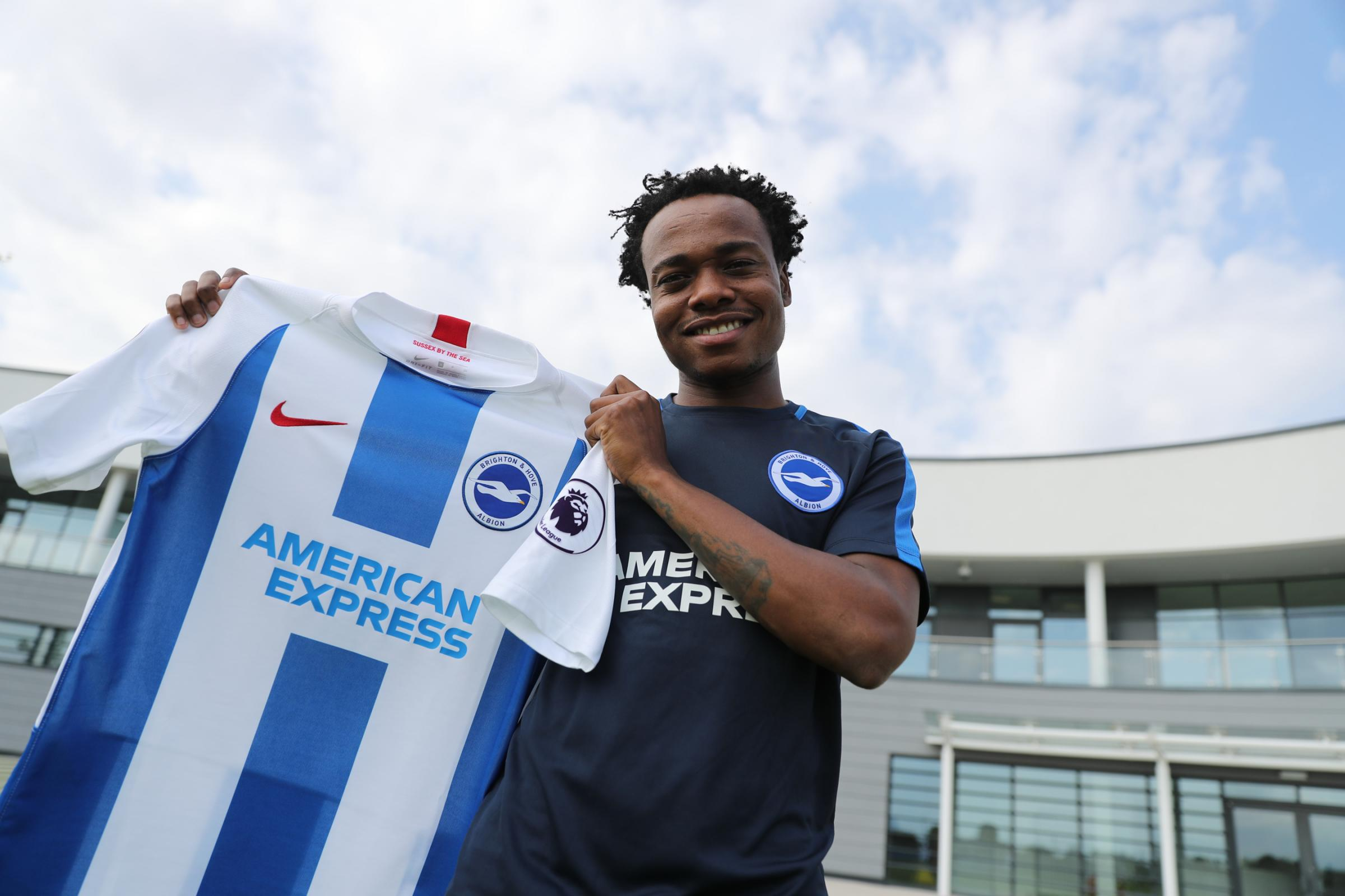 Percy Tau has completed his loan move. Picture by BHAFC/Paul Hazlewood