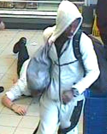 The CCTV image of the attack suspect