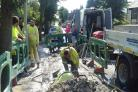 Burst pipe leaves many without water on hottest day of the year