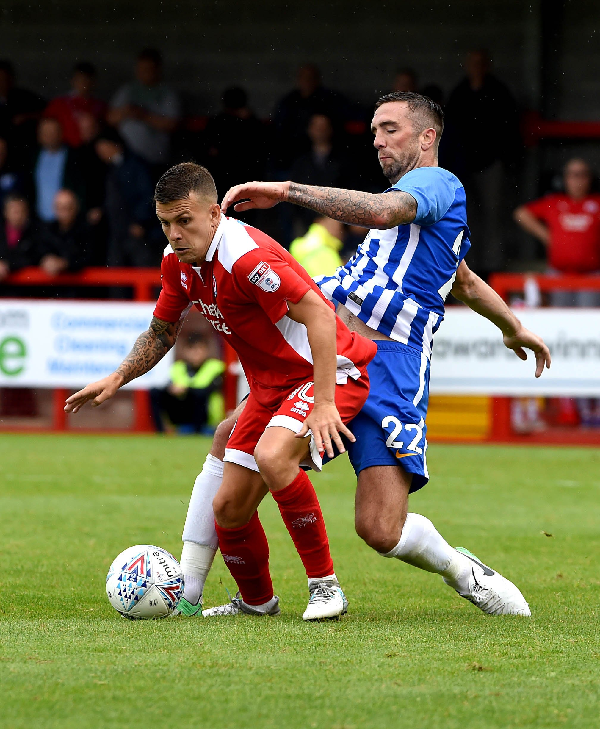 Dean Cox in action for Crawley