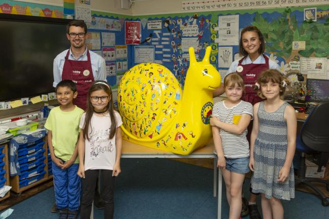 Hobbycraft Helps Carlton Hill Primary School With Snailspace The Argus