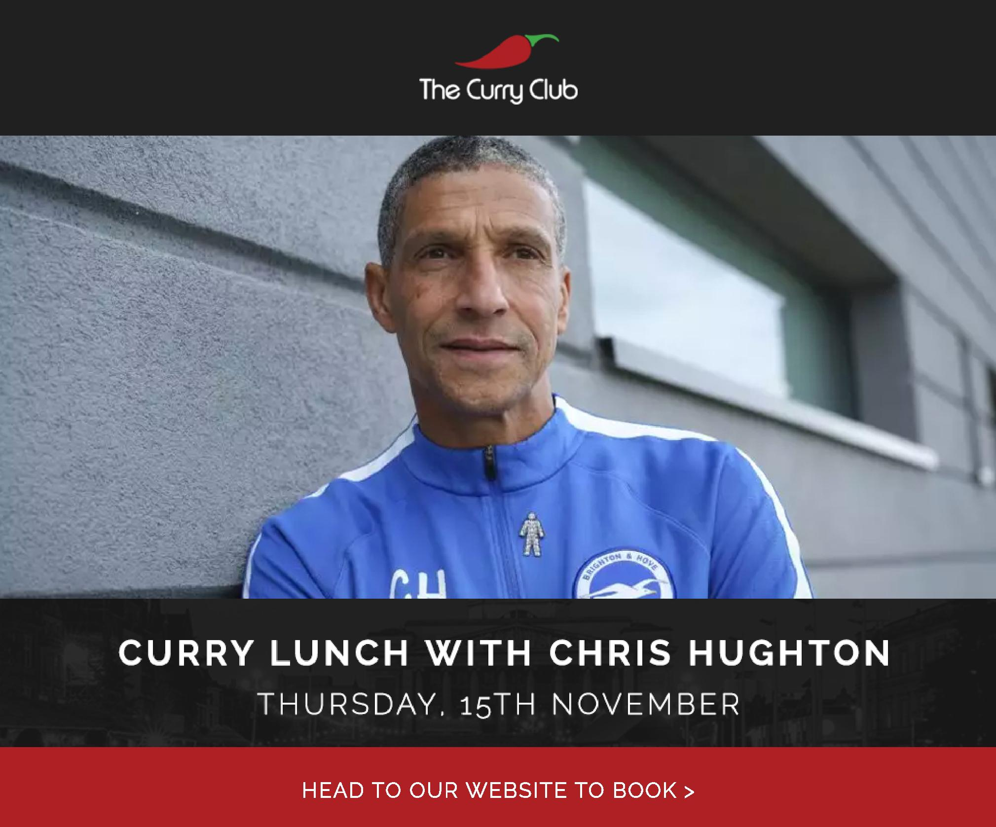 Curry Lunch with Chris Hughton