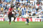 Leon Balogun in action against Manchester United