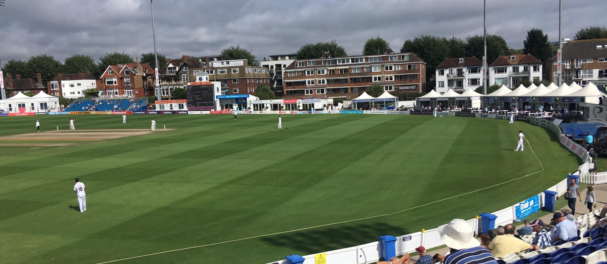 Sussex took two wickets at Hove this morning