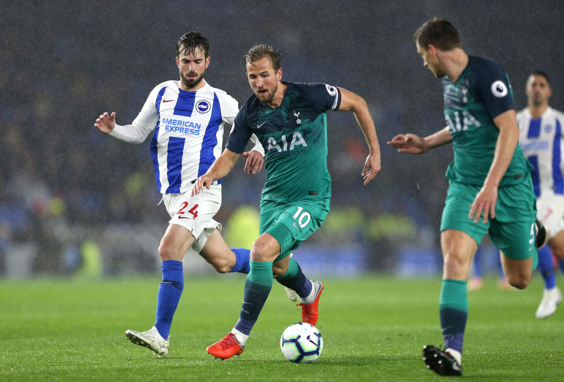 Tottenham's Harry Kane on the attack at the Amex
