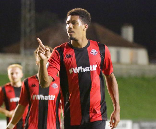Jonte Smith celebrates his goal. Picture by James Boyes