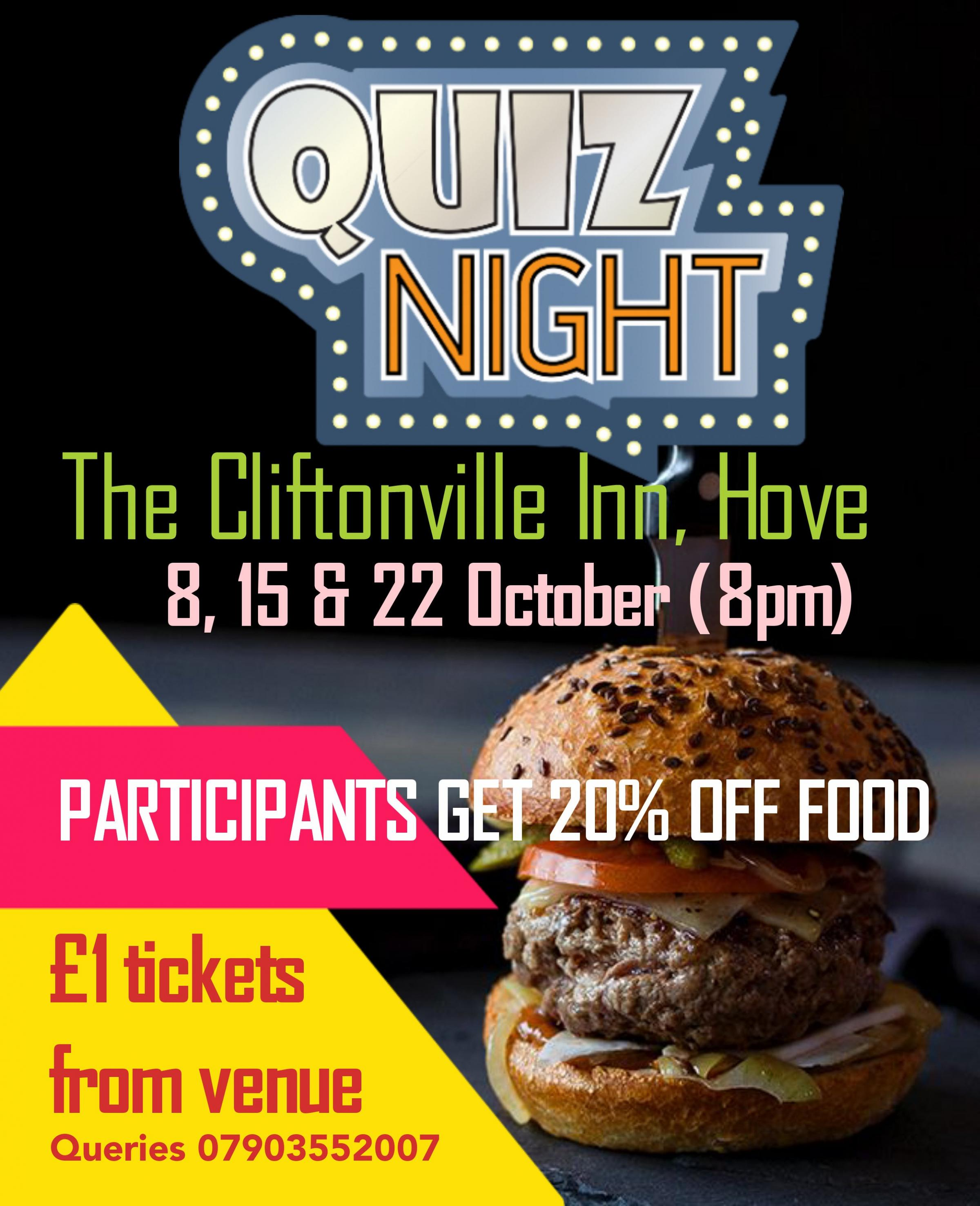 Monday Quiz Night (20% off food)