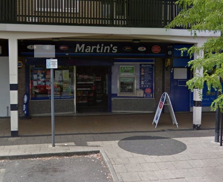 Martins newsagent in Crawley