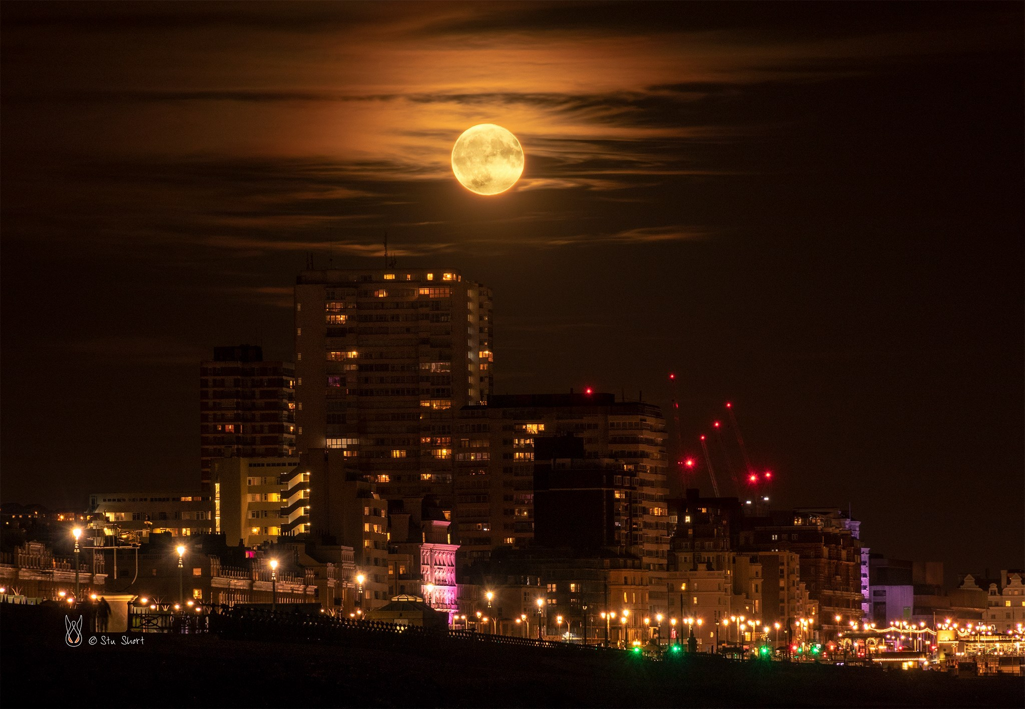 The Argus Camera Club member Stu Short to this photograph of an (almost but not quite) Harvest Moonrise over Brighton last night...