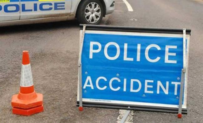 Car and van crash on A27