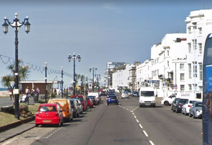 A 17-year-old needed surgery after he was stabbed in Marine Parade, Worthing. Picture from Google