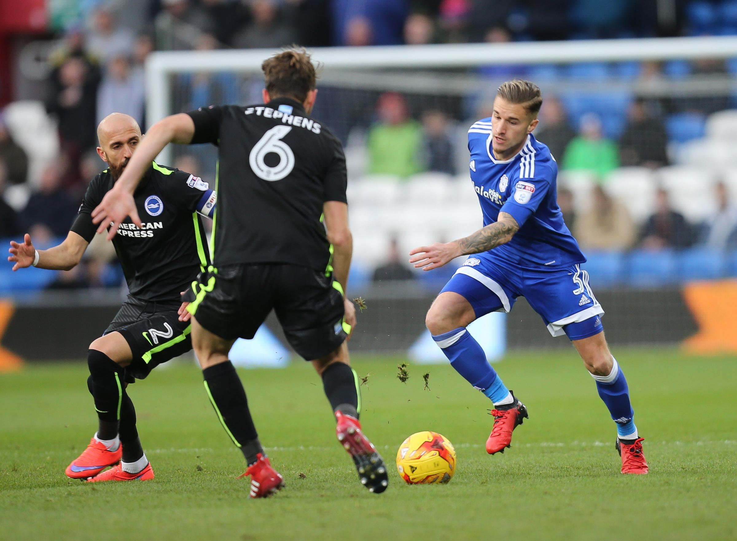 Joe Bennett in action against Albion in the Championship