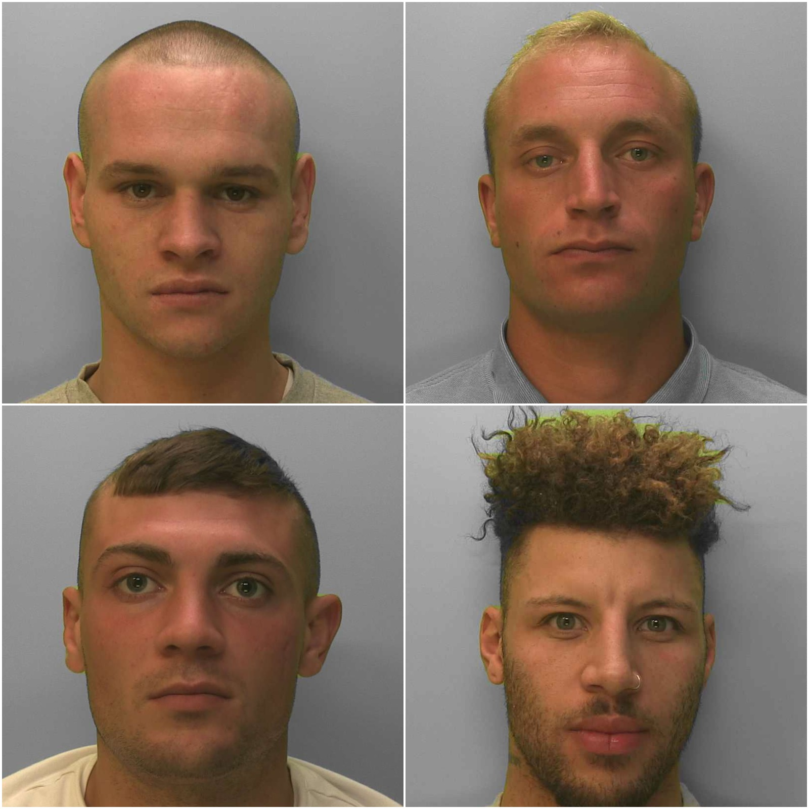 The gang have been jailed for their brutal attack in Durrington, Worthing