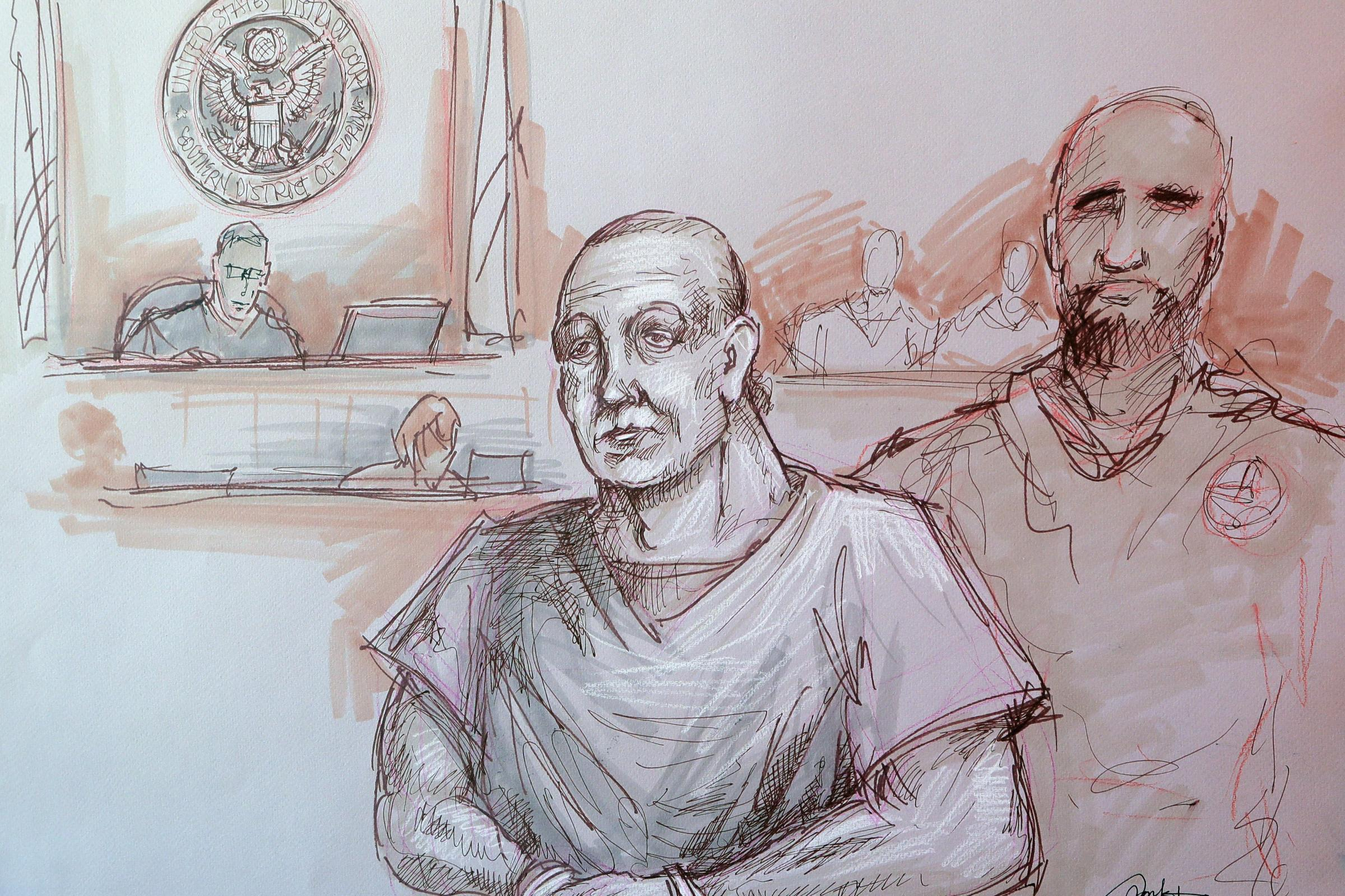 Cesar Sayoc in federal court