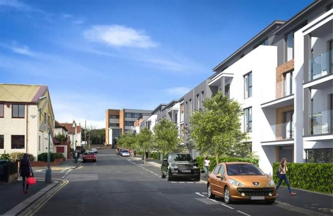 Major redevelopment of brownfield site in central Hove
