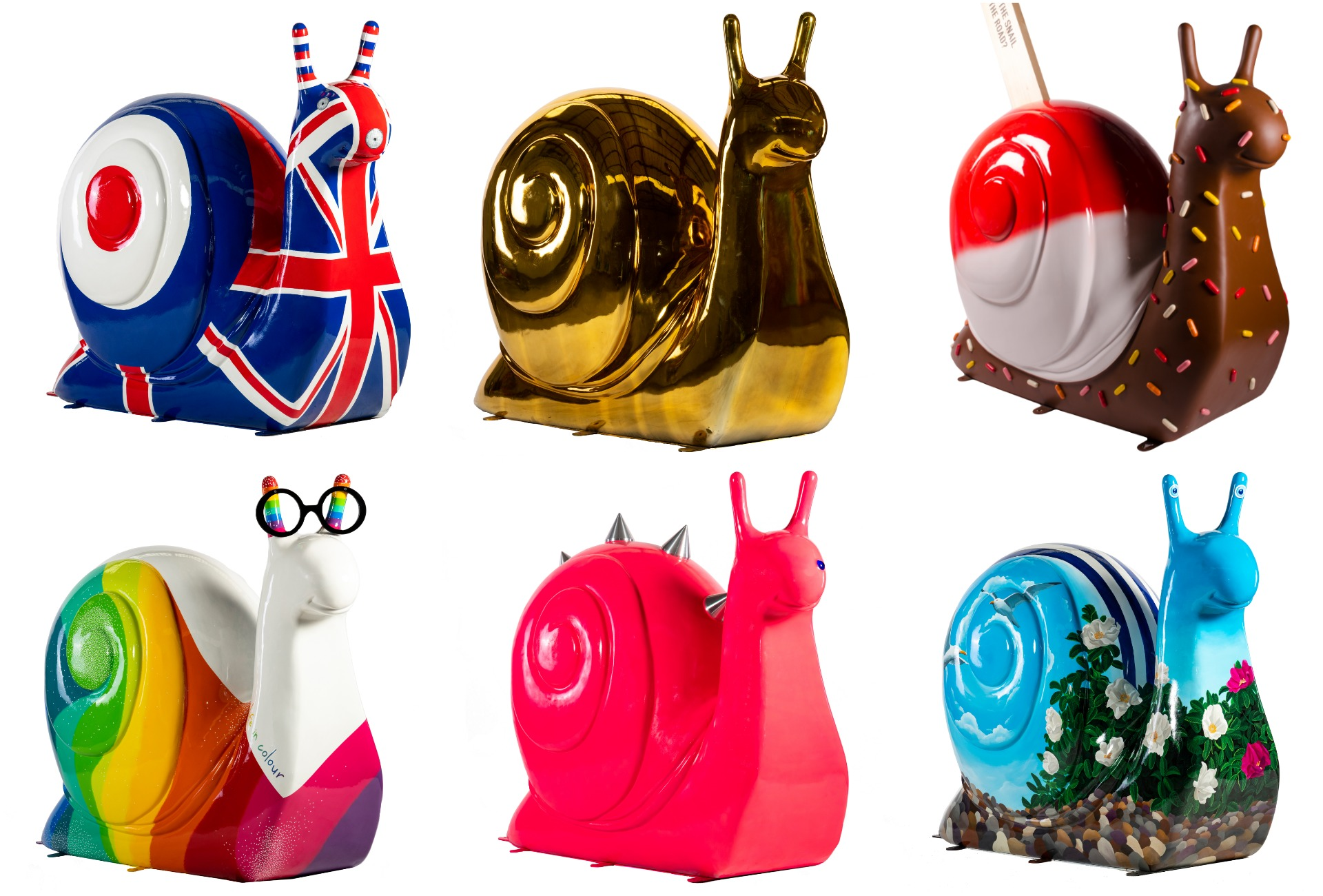 Vote for your favourite snail to crown it Brighton's the best-loved crustacean